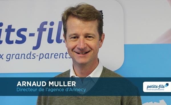 Arnaud Muller, directeur de l'agence Petits-fils Annecy, recrute un∙e responsable de secteur.