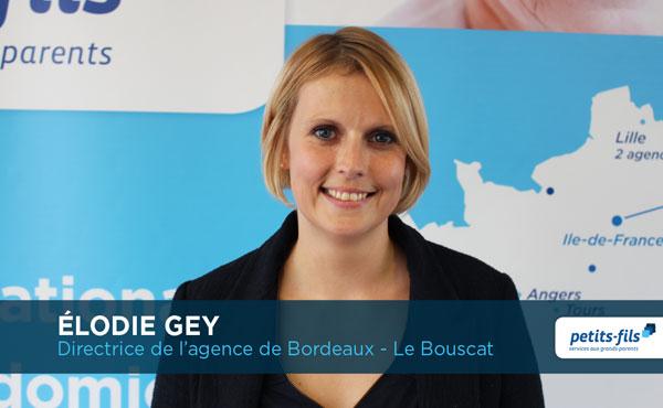 Elodie Gey, directrice de l'agence Petits-fils Bordeaux Le Bouscat, recherche un.e responsable de secteur.