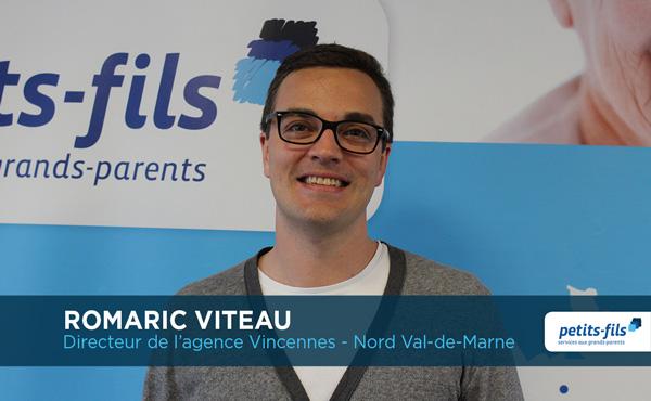 Romaric Viteau, directeur de l'agence Petits-fils Vincennes, recrute un responsable d'agence