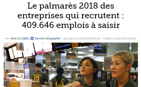 Article Petits-fils - Le Figaro - Le Palmarès 2018 des entreprises qui recrutent le plus